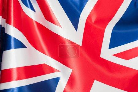 primer plano de la bandera nacional del reino unido con la cruz roja
