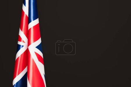 bandera nacional del reino unido con cruz roja aislada en negro con espacio de copia
