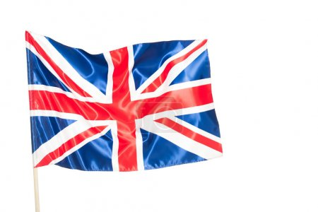 Bandera británica de reino unido con cruz roja aislada sobre blanco