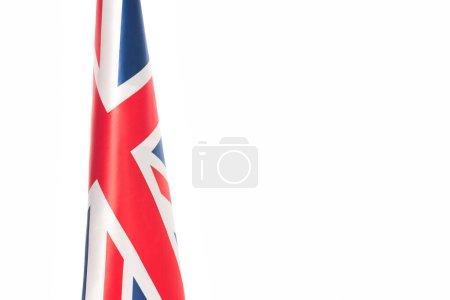 bandera del reino unido con cruz roja aislada en blanco con espacio de copia