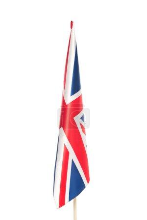 bandera del reino unido con cruz roja aislada sobre blanco