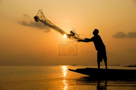 Casting a silhouette at sunset