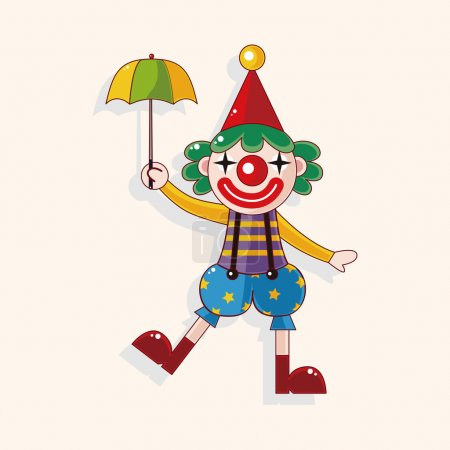 Illustration for Clowns theme elements - Royalty Free Image