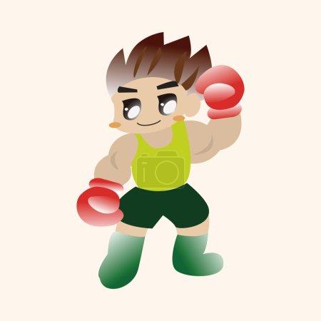 Boxer theme elements vector,eps