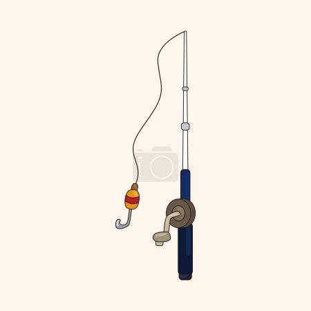 Illustration for Fishing rods theme elements - Royalty Free Image