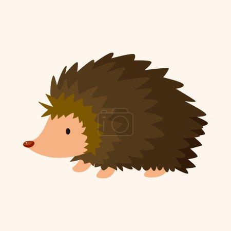 Animal Hedgehog cartoon theme elements...
