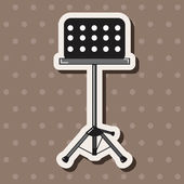 Music stand theme elements vectoreps