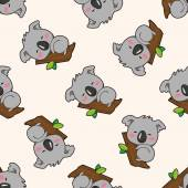 animal koala cartoon  cartoon seamless pattern background