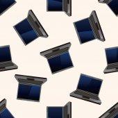 Počítač, kreslený vzor bezešvé pozadí