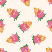 fairytale princess  cartoon seamless pattern background