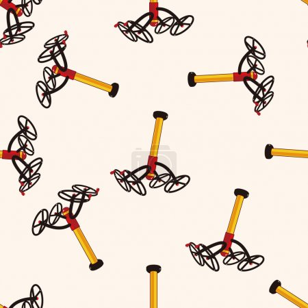 Amusement park facilities , cartoon seamless pattern background