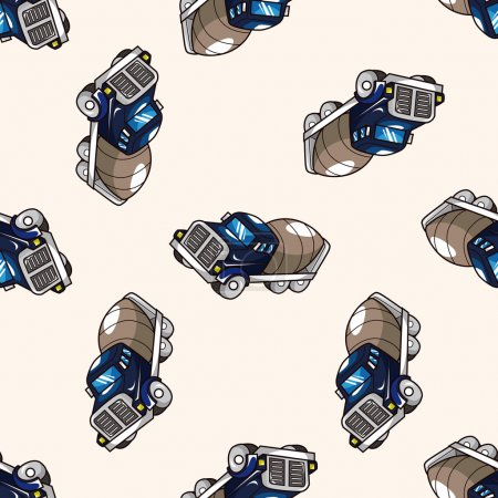 Truck , cartoon seamless pattern background