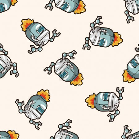 Illustration for Robot , cartoon seamless pattern background - Royalty Free Image