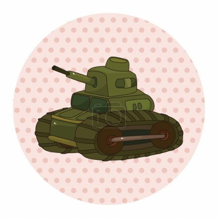 tank theme elements vector,eps