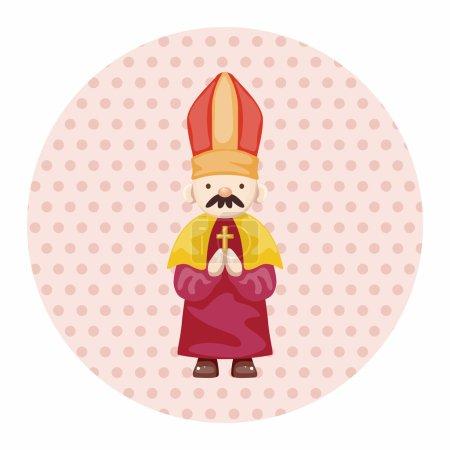 Illustration pour Éléments de thème pasteur et nonne - image libre de droit
