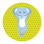 Animal elephant cartoon theme elements...