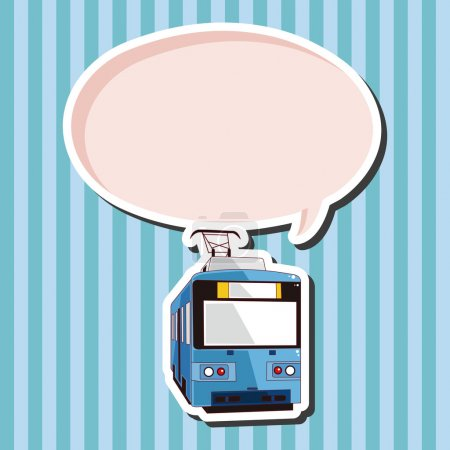 Illustration for Transportation train theme elements - Royalty Free Image