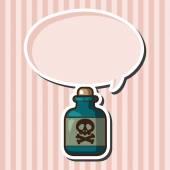 Giftige Chemikalien Designelemente