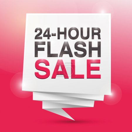24 HOUR FLASH SALE, poster design element