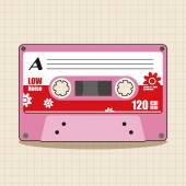 Audiokazeta téma prvky vektoru, eps ikonu prvku