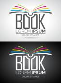 Vector book logo illustration. Icon template for education