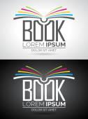 Vektorové logo knižní ilustrace. Šablona ikony pro vzdělávání