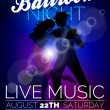 Vector Ballroom Night Party Flyer design with coup...