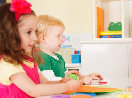 Photo for Pre-school children in the classroom - Royalty Free Image