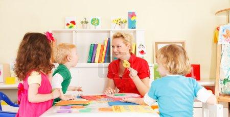 Preschoolers in the classroom