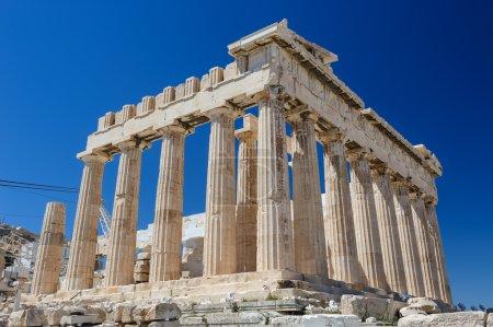 Athenas Parthenon at sky background