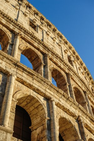Partial view of Coliseum ruins. Italy, Rome.