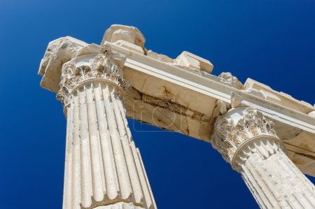 Photo for Columns at ancient temple of Trajan, Bergama, Turkey - Royalty Free Image