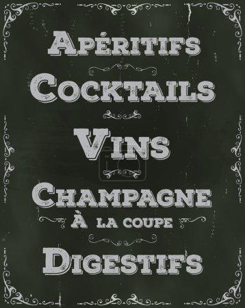 French Restaurant Beverage Background