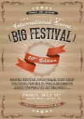 Vintage Festival Invitation Poster