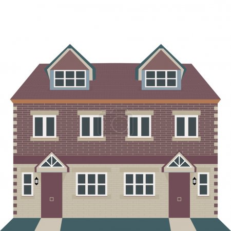 Georgian House Vector Illustration