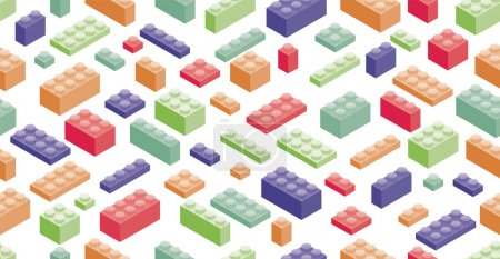 Isometric Plastic Building Blocks