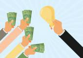 Crowdfunding investing into ideas