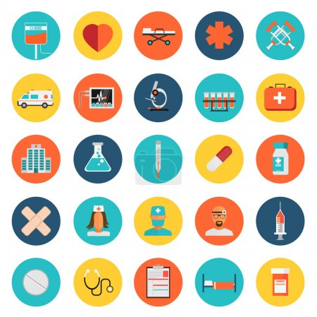 Illustration for Vector Medical Icons 25 Set - Royalty Free Image
