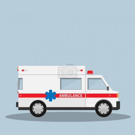 Illustration for Ambulance vector car - Royalty Free Image