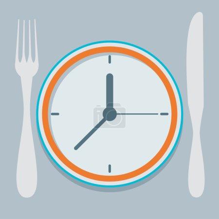 Illustration pour Illustration vectorielle de conception plate colorée concept pour le régime alimentaire, la façon planifiée de manger, régime nutritionnel - image libre de droit