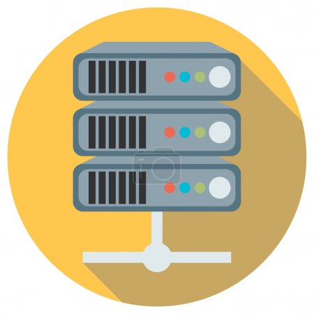 Flat style server icon