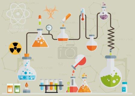 Medical laboratory infographics