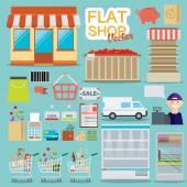 Supermarket online koncept