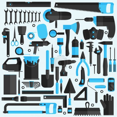 Hand tools icons set