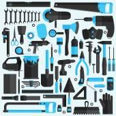 Hand tools icons set