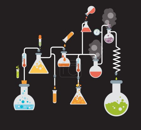 Chemistry infographics template showing various te...
