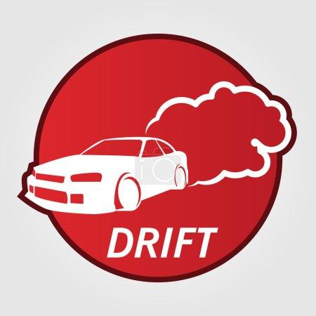 Race Car Drifting label