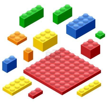 Plastic Building Blocks and Tiles