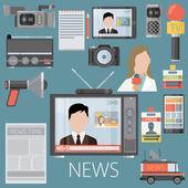 television radio press conference concept