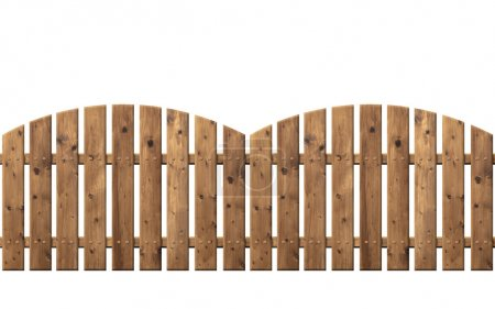 Wooden fence isolated